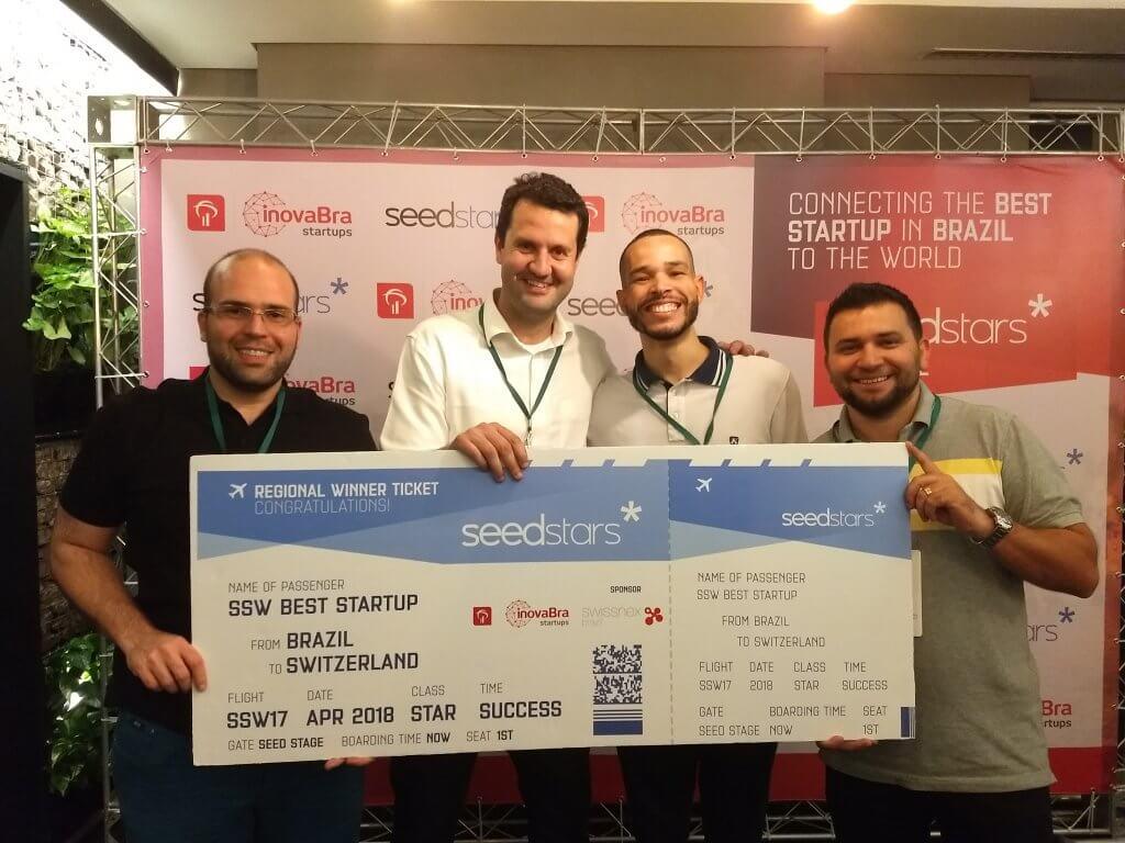(Esquerda pra direita: Adriano Meirinho, Marcelo França, Daniel Arjuna, Julio Paulino)